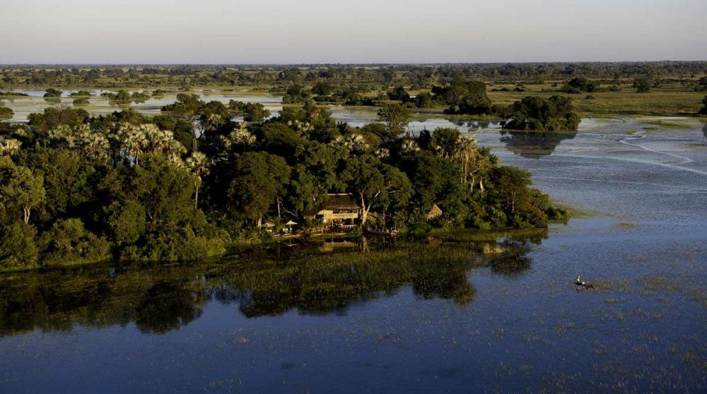Vue aérienne du Jacana camp