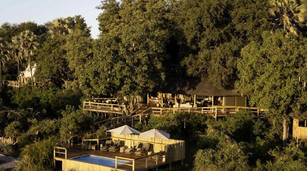 Vue aérienne de Kwetsani Camp