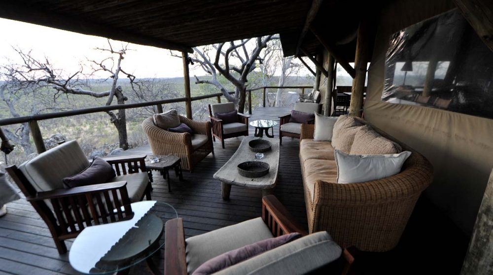 La terrasse du Little Ongava