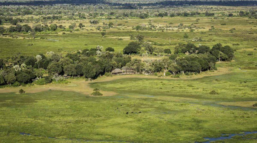 Vue aérienne de Mombo Camp
