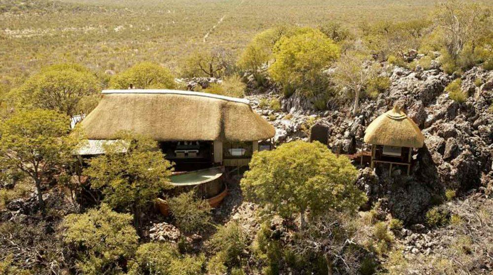 Vue de l'hôtel en Namibie