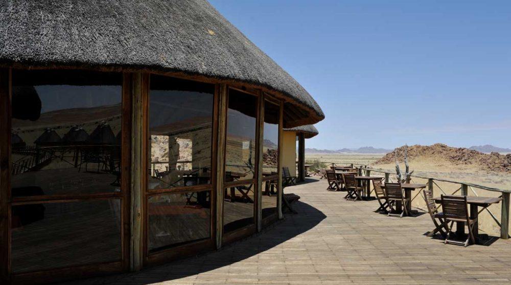 L'entrée du lodge en Namibie