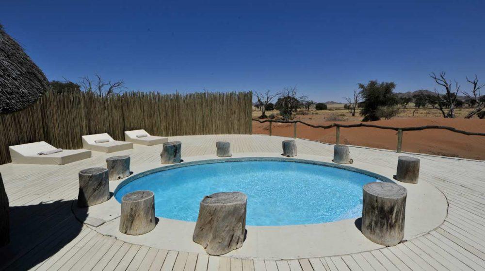 La piscine en Namibie