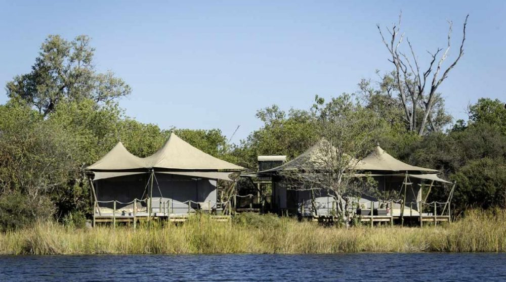 Premier aperçu des tentes au Botswana