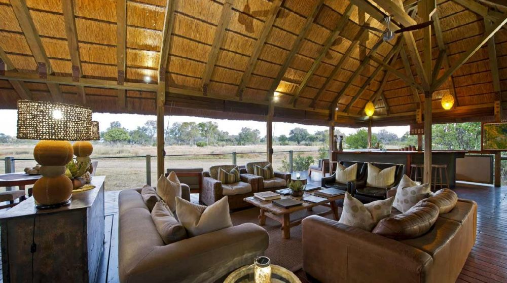 Le lounge au Botswana