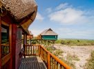 La vue depuis l'hôtel en Namibie