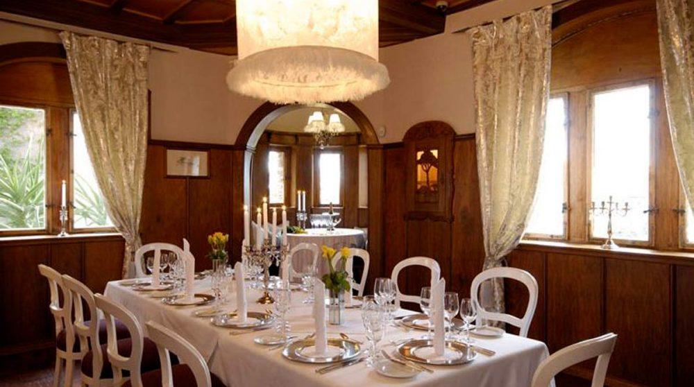 La salle à mange de l'Hotel Heinitzburg
