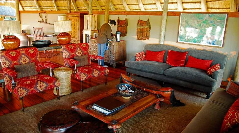 Le lounge de Savuti Camp