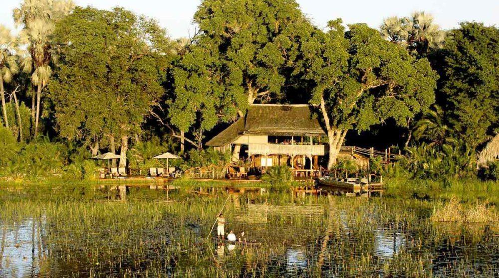 Le camp niché dans la nature au Botswana