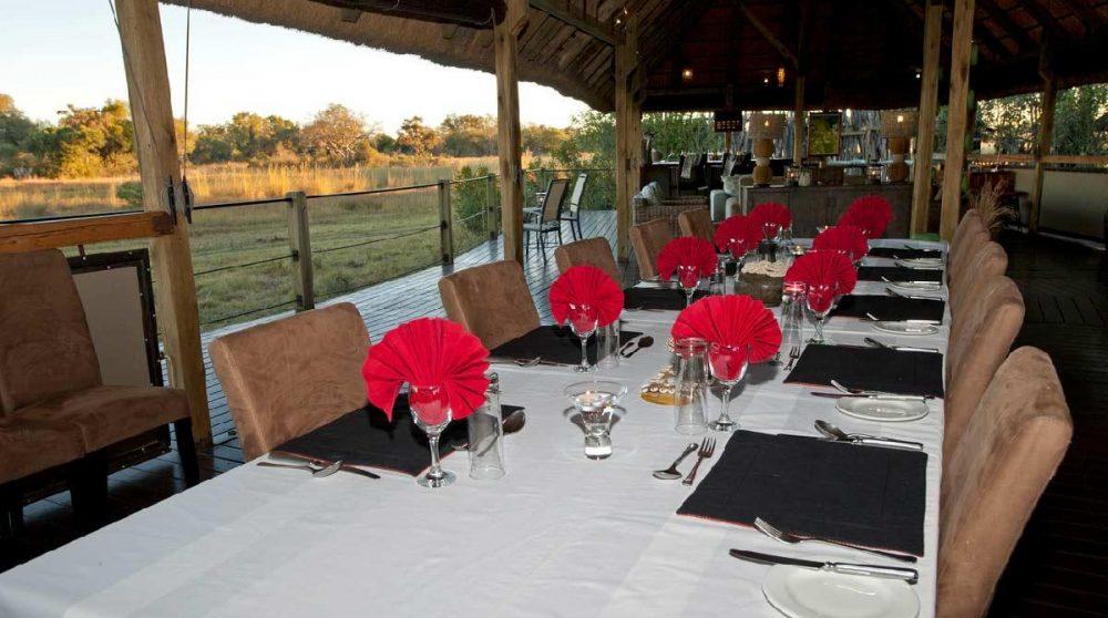 La salle à manger au Botswana