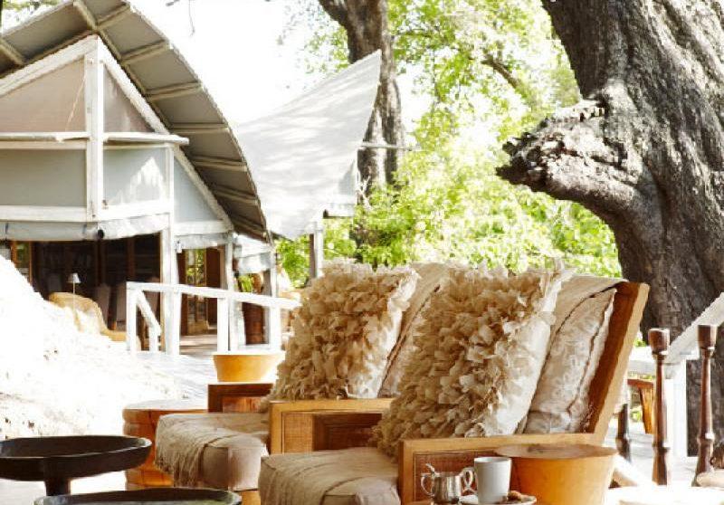 Fauteuils et décoration au Botswana