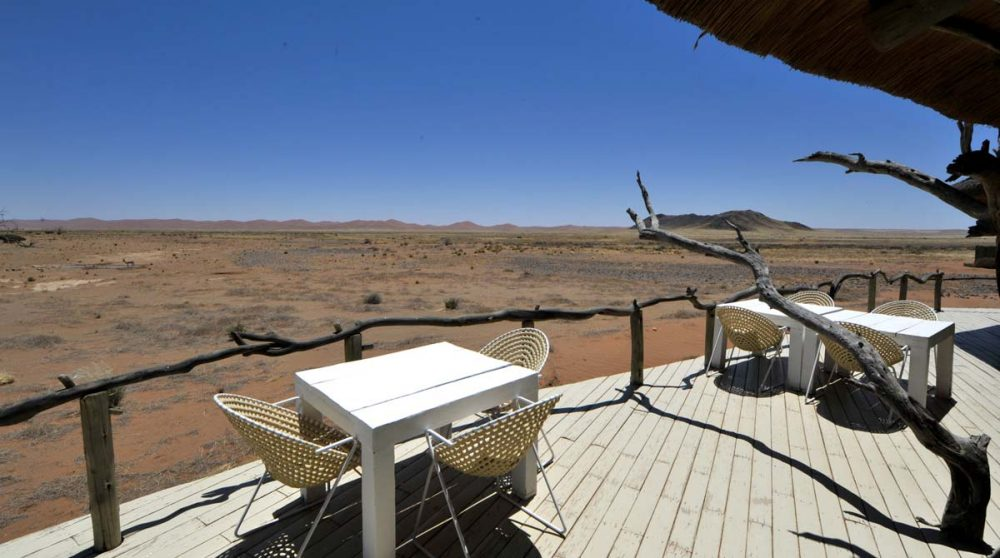 Vue sur la savane en Namibie