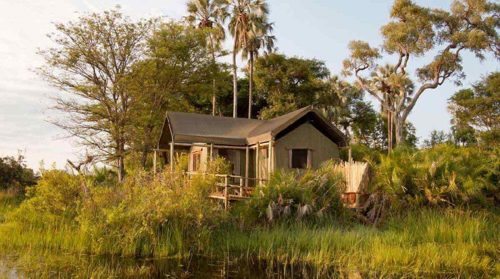 L'une des tentes au coeur du Delta de l'Okavango