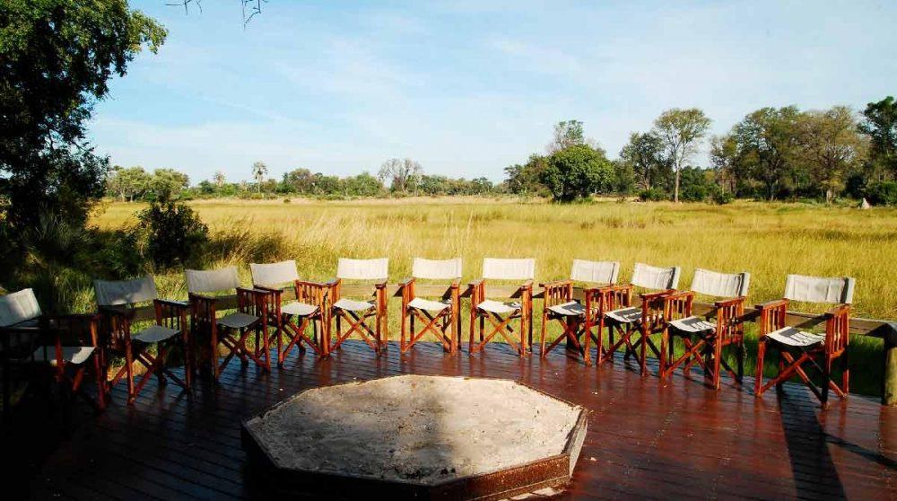 Le boma dans le Delta de l'Okavango