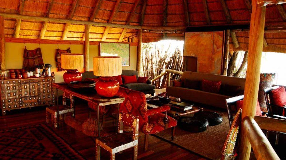 Espace détente dans le Delta de l'Okavango