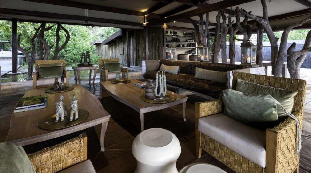 Un autre salon du lounge au Botswana