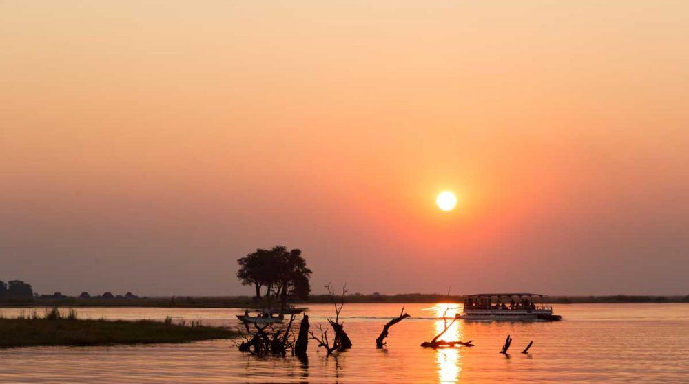 Magnifique coucher de soleil à Chobe