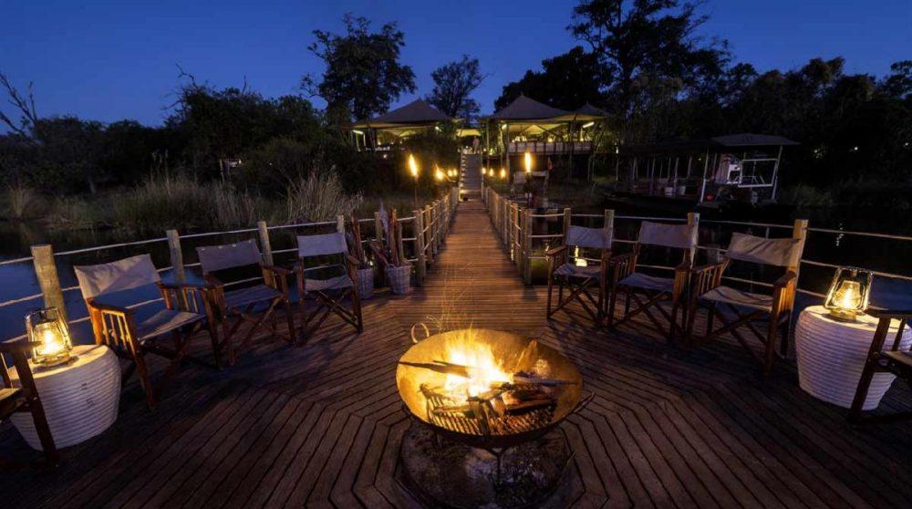 Au coin du feu au Botswana