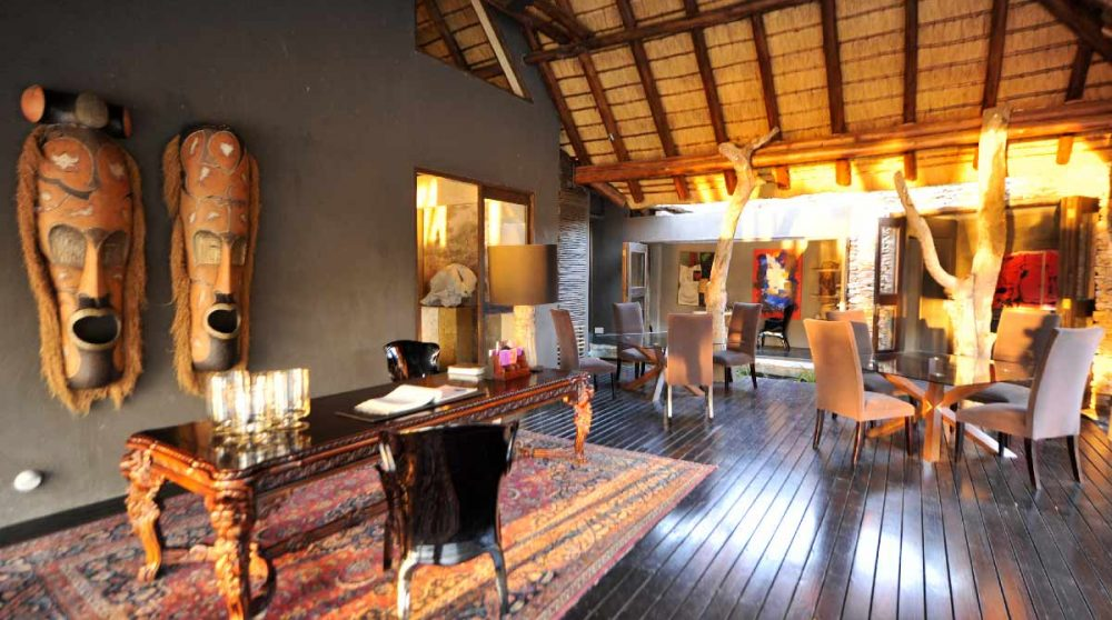 L'acceuil de l'hôtel en Afrique du Sud