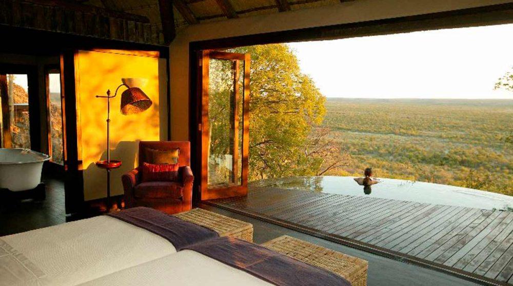 La vue depuis la chambre en Namibie