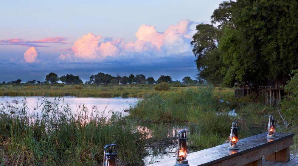 Lampes tempête dans le Delta de l'Okavango