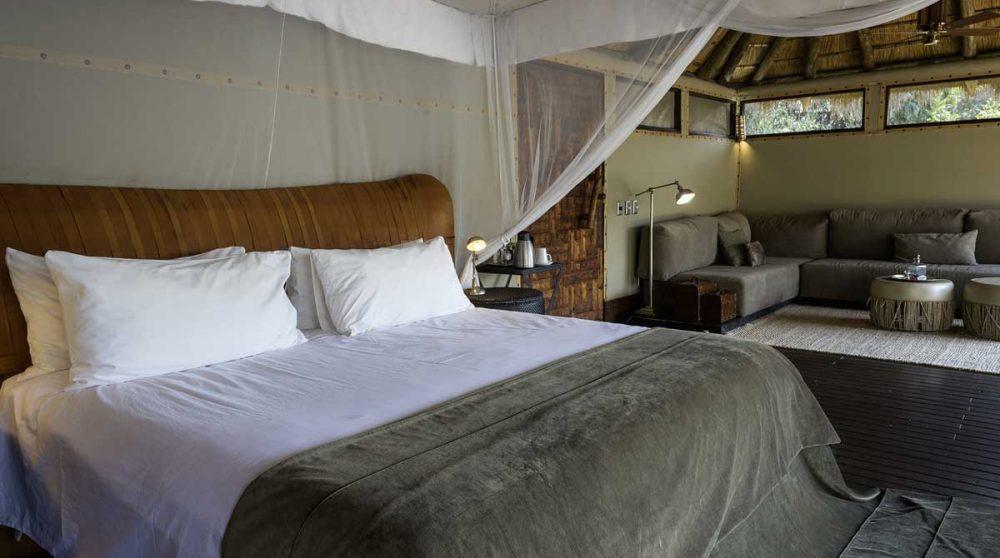 Aperçu d'un lit à Kaokoland