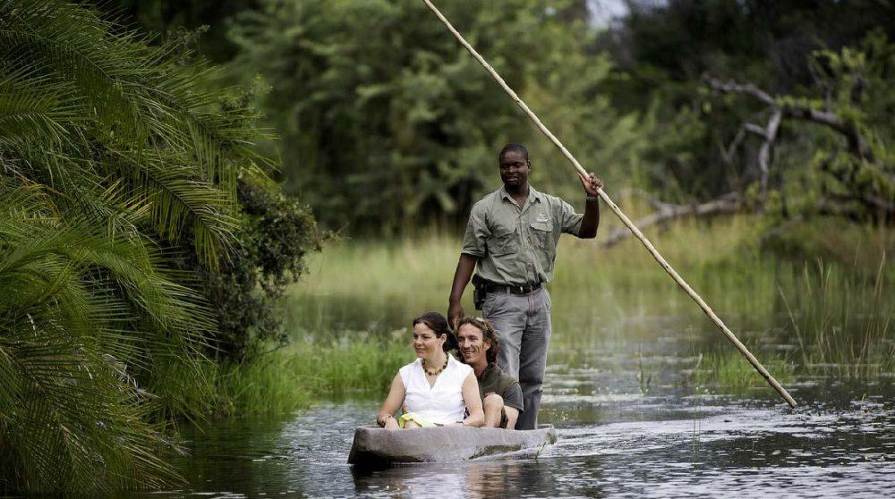 Safari en mokoro à Kwetsani Camp