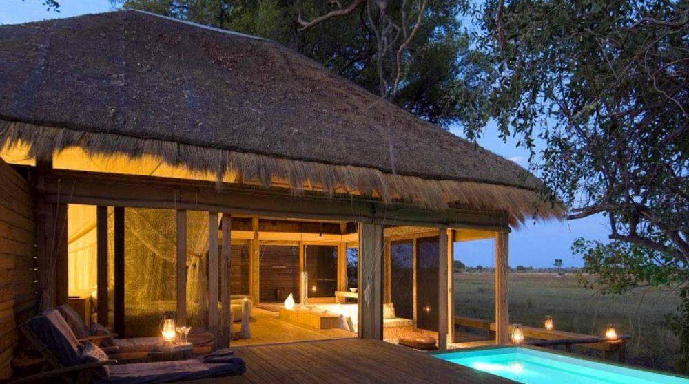 La piscine d'une villa dans le Delta de l'Okavango
