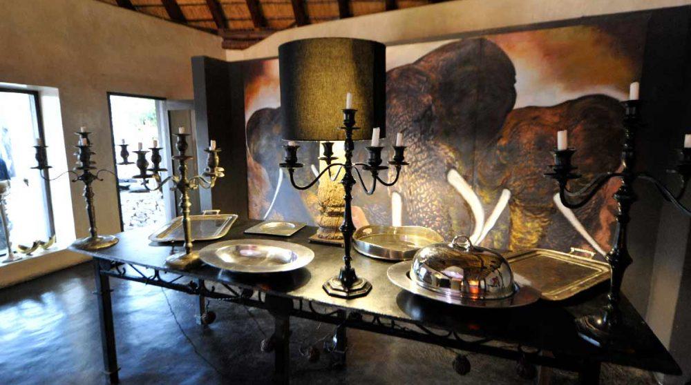 Un buffet au restaurant en Afrique du Sud