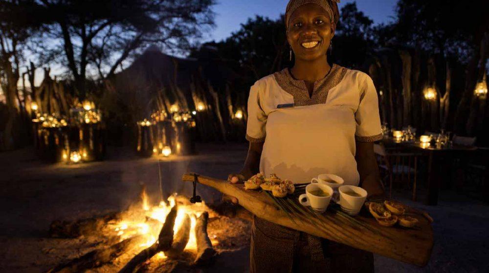 De délicieuses bouchées au Botswana