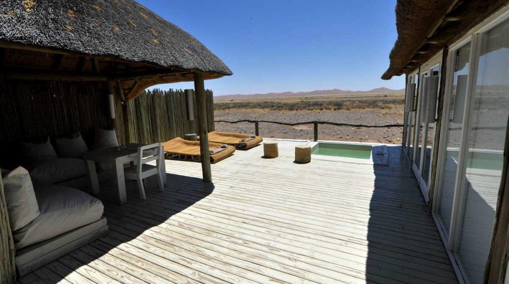 Extérieur d'une chambre en Namibie