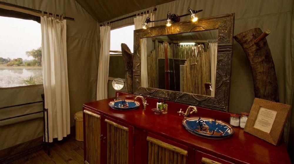 L'élégante salle d'eau au Botswana