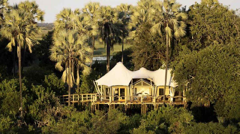 Vue aérienne de l'une des tentes