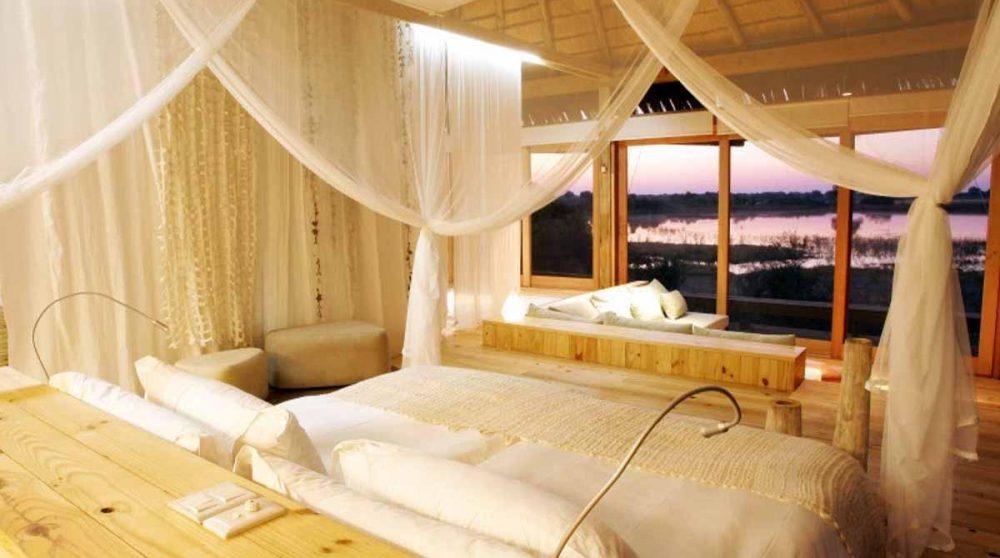 Le lit dans une chambre au Botswana