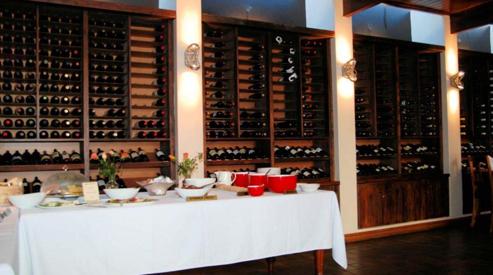 Un buffet du restaurant à Stellenbosch