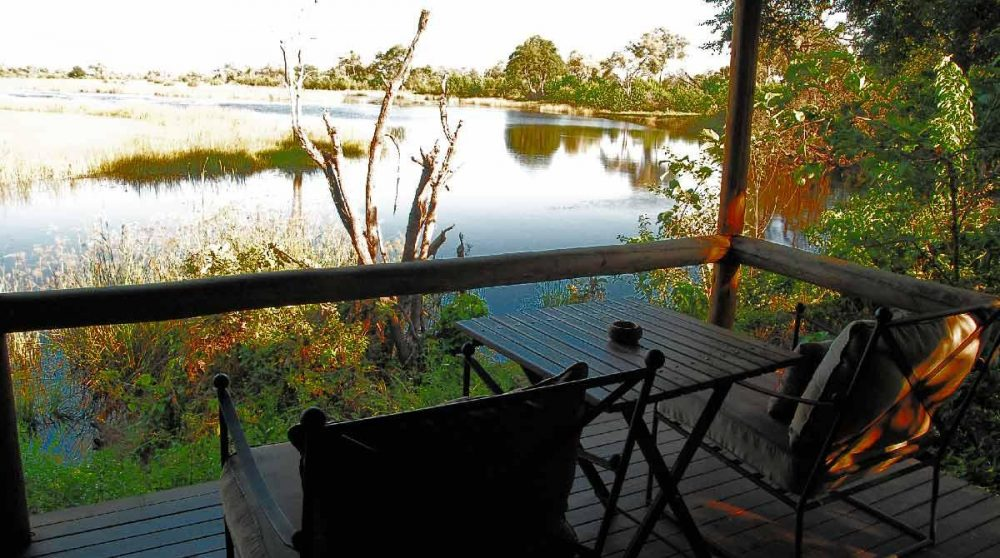 La vue dans le Delta de l'Okavango