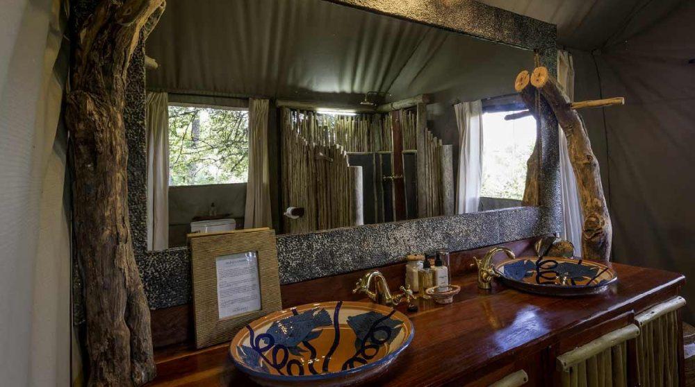 Les lavabos dans le Delta de l'Okavango