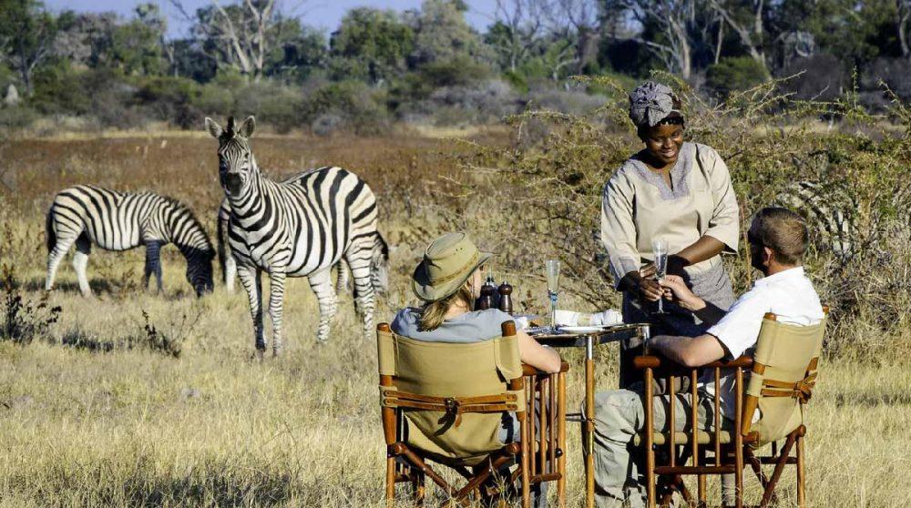 L'apéritif au cœur du Delta au Botswana