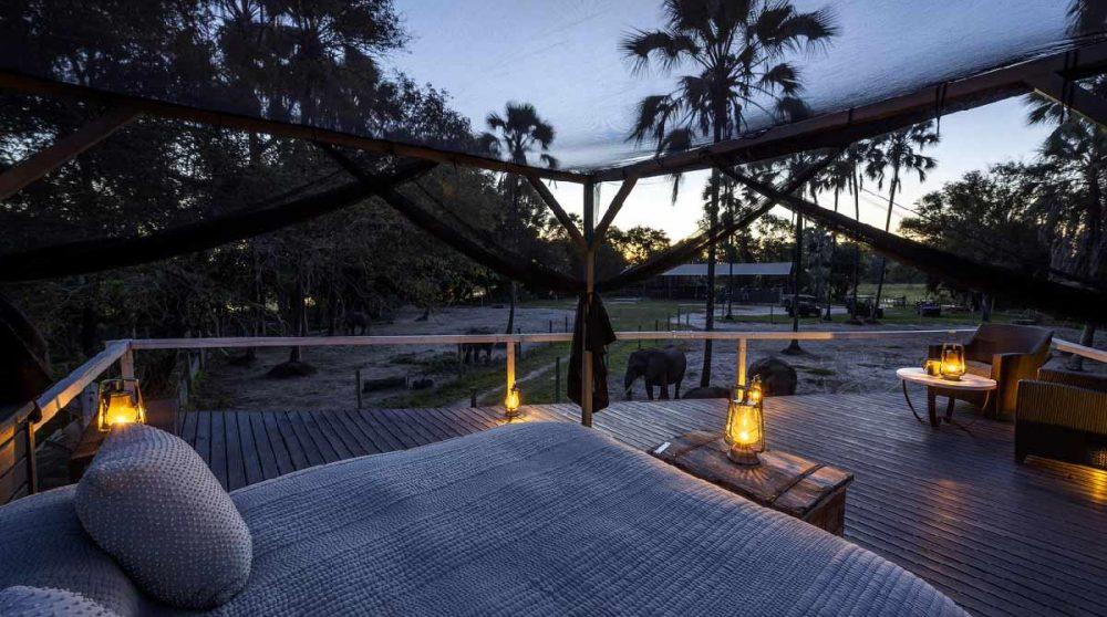 Une terrasse au Botswana