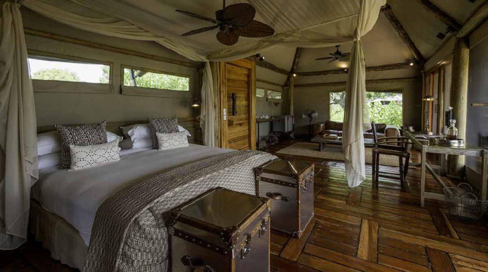 L'une des tentes spacieuses