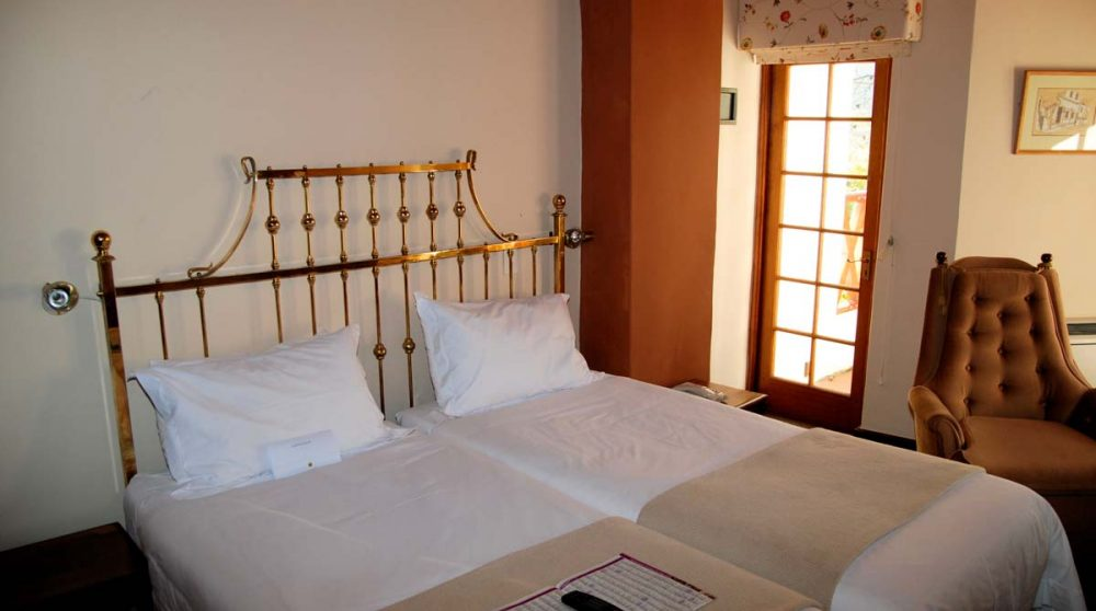 Le lit dans la chambre à Stellenbosch