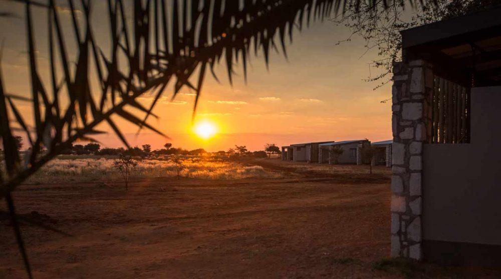Coucher de soleil depuis l'Anib Lodge