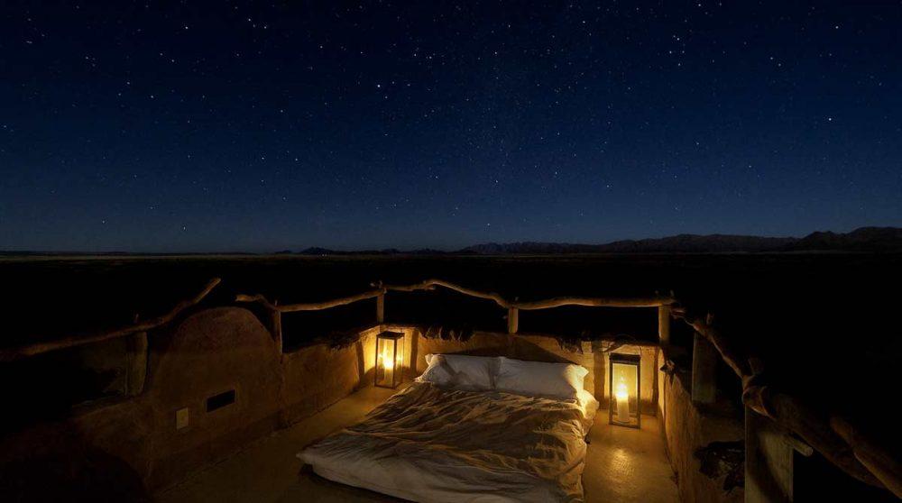 Nuit à la belle étoile en Namibie