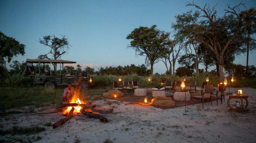 Fin de journée dans le Delta de l'Okavango