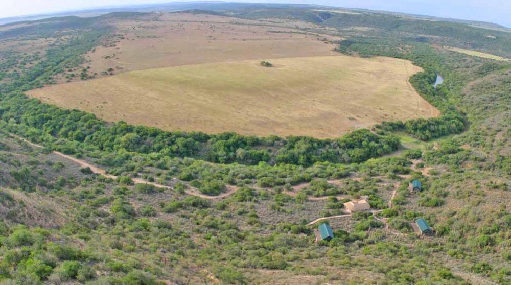 Amakhala HillsNek Safari Camp vu du ciel