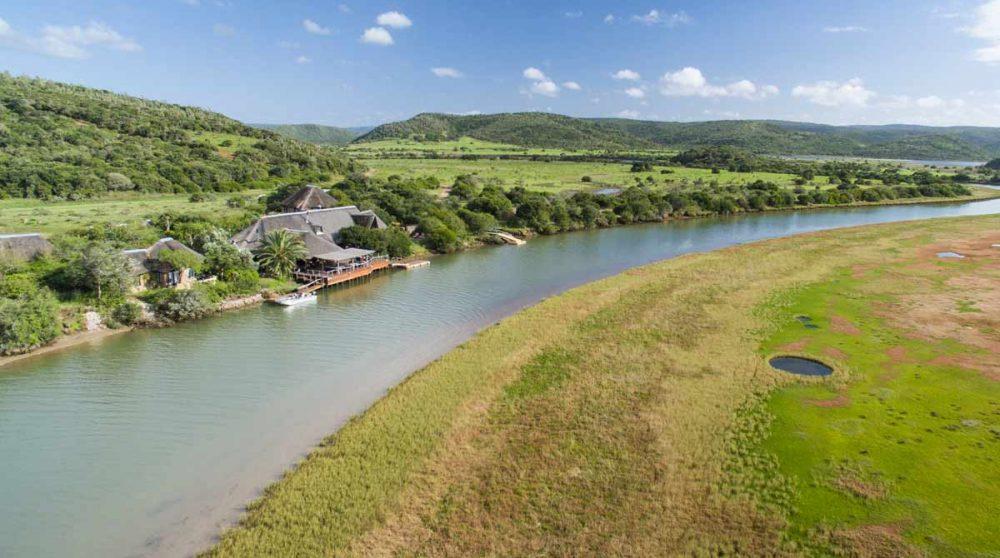 Kariega River Lodge vu du ciel