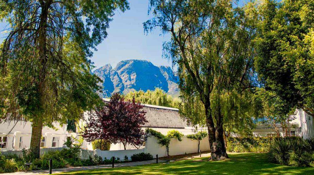 Le jardin de l'hôtel Franschhoek Hotel and Spa