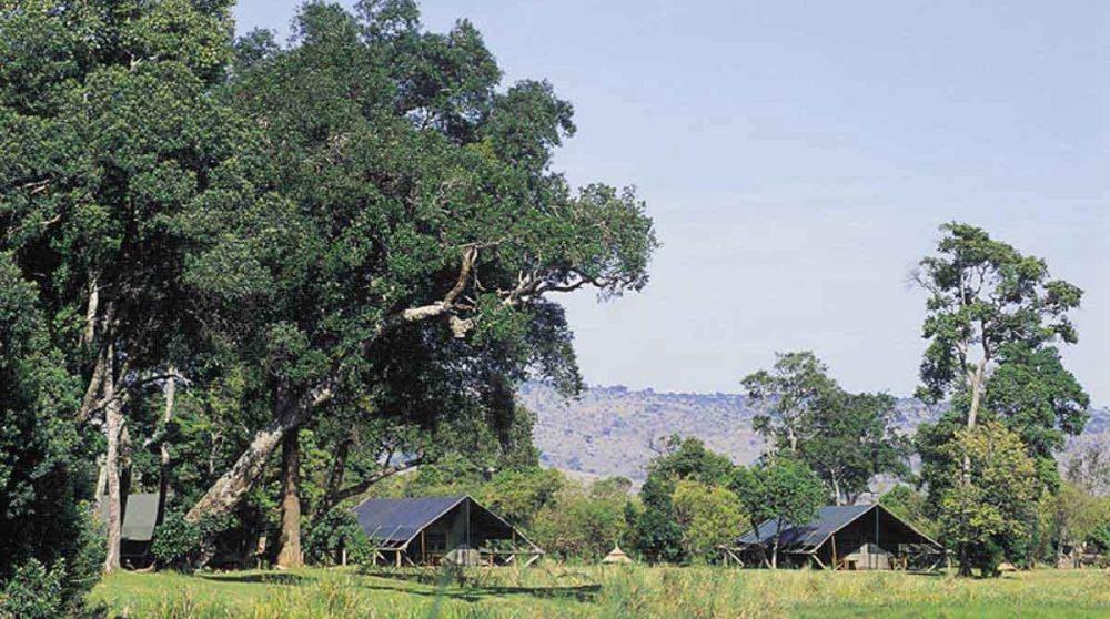 Vue génarale de Little Governors Camp au Kenya dans le Masaï Mara