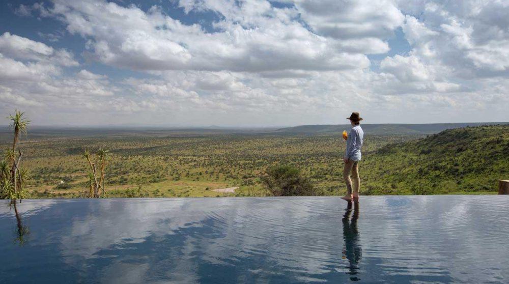 La vue depuis la piscine du Loisaba Tented Camp