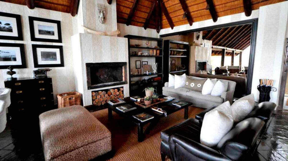 Le salon du Londolozi Varty Camp